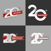 The set of 20th anniversary signs