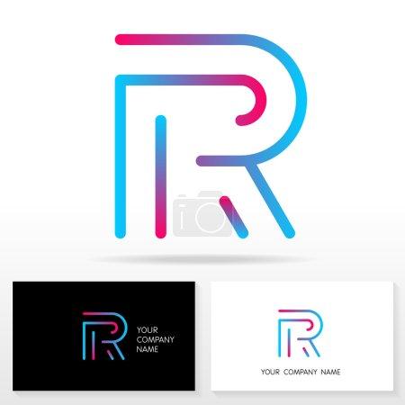 Éléments de modèle de conception d'icône de logo Lettre R - Illustration .