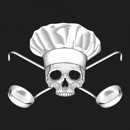 The skull in toque and crossed ladles