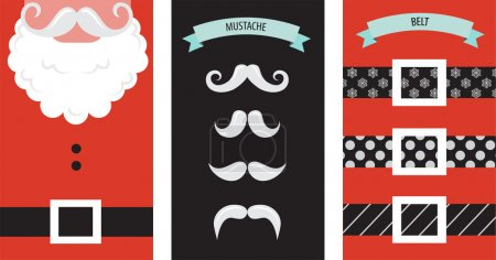 Illustration for Create your own hipster Santa Christmas card. illustration - Royalty Free Image