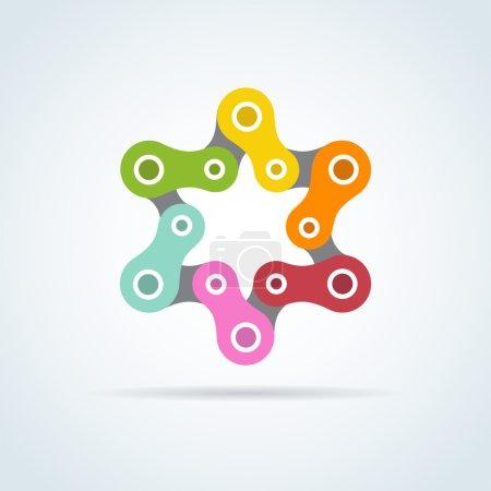 colorful bike chain star. david star