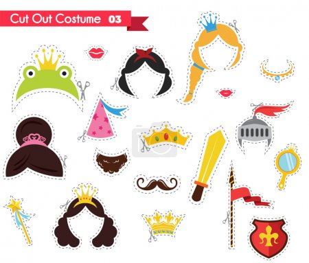 paper cut out for kids with prince and princess theme. can be used as a props for a theamed party