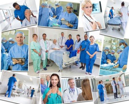Senior Patients Doctors & Nurses in Hospital