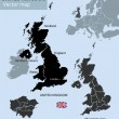 United Kingdom countries, UK regions and London ve...