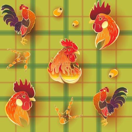 Golden Rooster Pattern