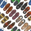 Seamless pattern with men's shoes. Vector  illustr...