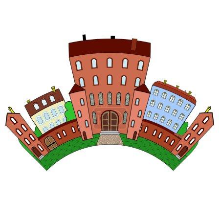 Photo pour Le complexe architectural du château et d'autres bâtiments, arc - image libre de droit