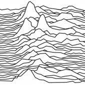 The rhythm of the waves the pulsar vector lines design broken lines mountains