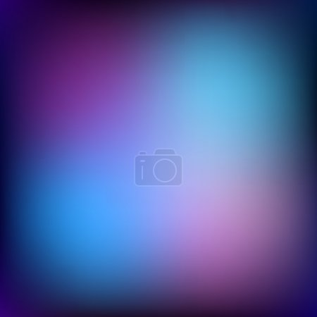 Abstract vector background, color gradient, blurred circles