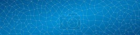 Illustration pour Fond abstrait, géométrie, lignes et points, quadrangles, fond bleu - image libre de droit