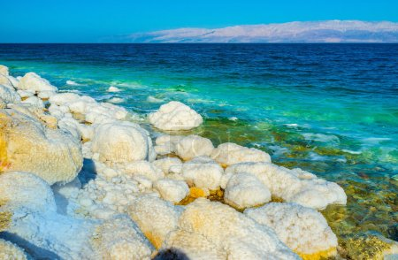The white coast of the Dead Sea
