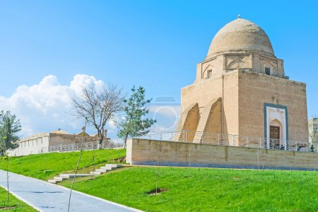 The building of the Ruhabad Mausoleum, its name me...