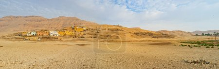 The rocky landscape of the Theban Necropolis with ...