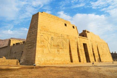 The great Temple of Ramesses III in Medinet Habu i...