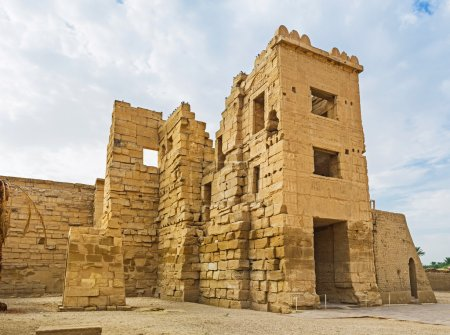 The migdol was the fortified gate-house, leading t...