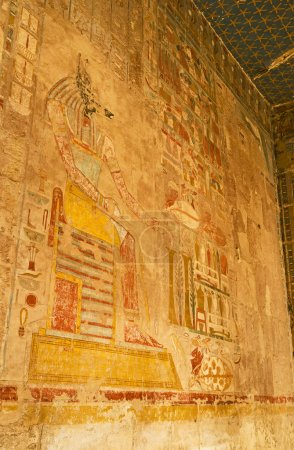 The fresco, depicting ancient god Anubis on the wa...