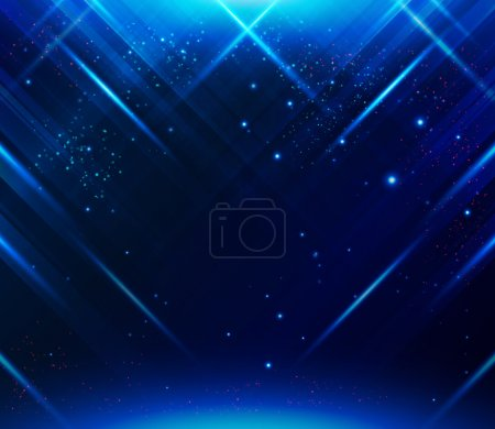 Ilustración de Blue Abstract striped background with light effects. Vector image. - Imagen libre de derechos