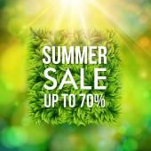 Summer sale advertisement poster