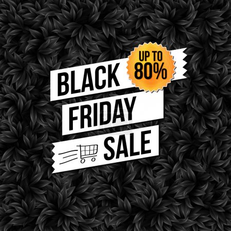 Illustration for Black Friday sale business poster. Vector illustration. - Royalty Free Image