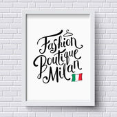 Fashion Boutique Milan Concept on a Frame