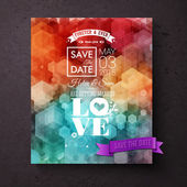Artistic Save The Date wedding invitation template