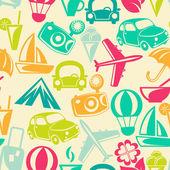 Traveling pattern Retro travel icons