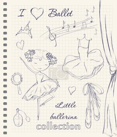 Hand drawn ballerina