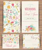 Floral vector card templates