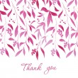 Watercolor floral vector card. Hand drawn design f...