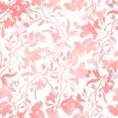 Bezešvé vzor s květy, akvarel