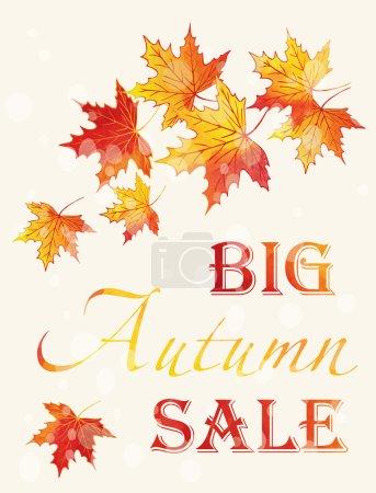 Autumn Sale poster.
