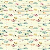 Feather arrow seamless pattern