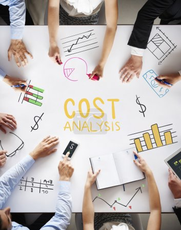 Photo for Business team on the meeting discussing cost analysis - Royalty Free Image