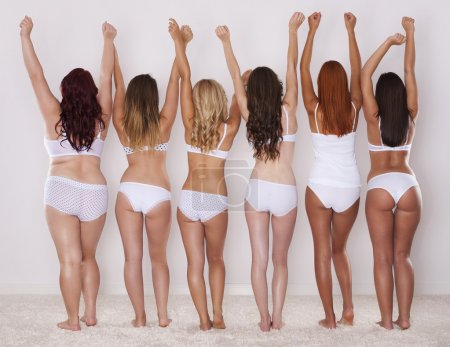 Photo for Different shapes of buttocks of young girls - Royalty Free Image