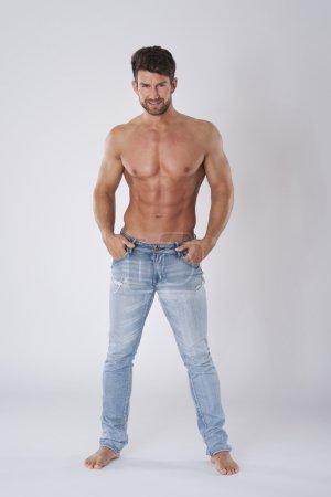 Sexy man without shirt