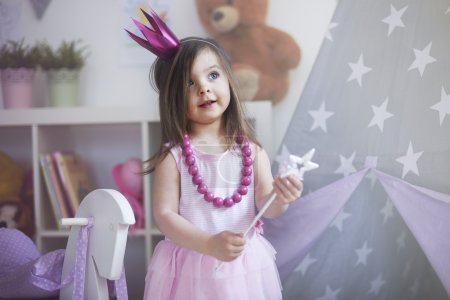 little princess with magic wand