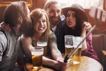 Friends making selfie