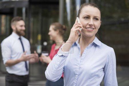 successful  businesswoman talking on phone