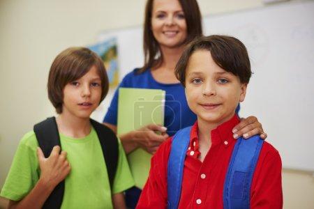 Little children while lesson