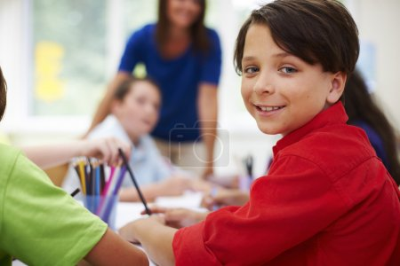 little children in primary school