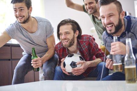 Watching soccer match