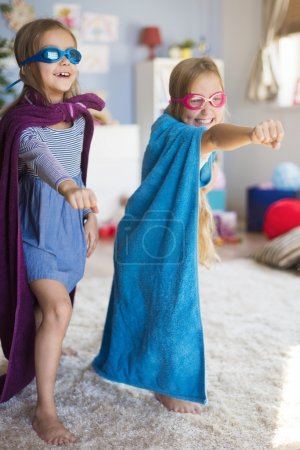 girls dreaming of becoming superheroes