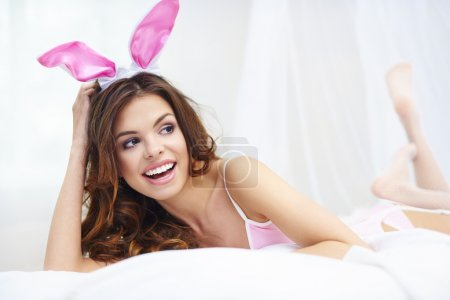 Sexy woman in rabbit costume