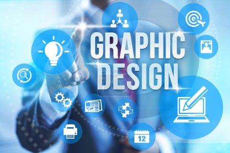 Photo pour Illustration de concept de service de graphisme - image libre de droit