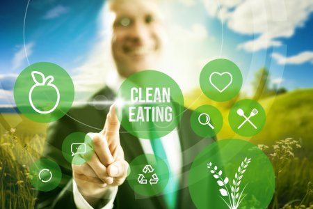 Clean food industry concept