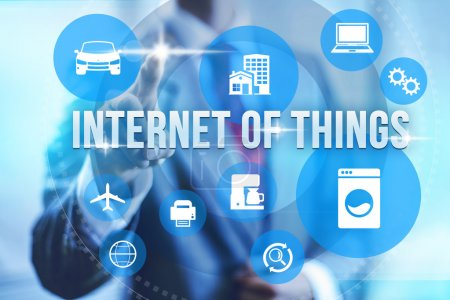 Photo for Future of internet UI concept of internet of things IOT - Royalty Free Image