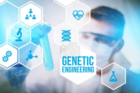 Genetic engineering researcher concept