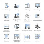 Web Usability  Accessibility Icons Set 2 - Bleu Series