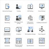 Webové použitelnosti  ikony přístupnosti sada 2 - Bleu série