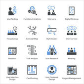 Web Usability & Accessibility Icons Set 1 - Bleu Series